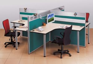 Modern Aluminum Glass Wooden Cubicle Workstation / Office Partition (NS-NW314) pictures & photos