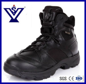 Black Military Combat Boots for Army (SYSG-559) pictures & photos