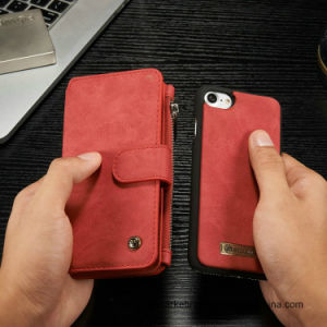 Genuine Multifunctional Leather Wallet Phone Case for iPhone 8/8plus pictures & photos