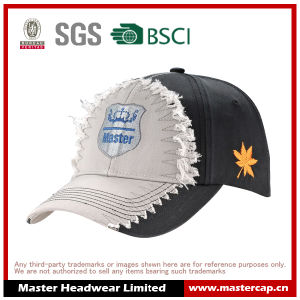 High Quality Embroidery Logo Cotton Baseball Wash Cap with Destory pictures & photos