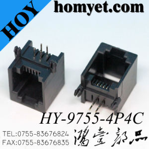 90 Degree 4p4c RJ45 PCB Socket Plastic RJ45 Connector pictures & photos