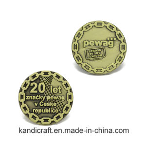 Custom Wholesale ODM Silver Trump Double Metal Precision Metal Coin Antique Antiqu Ripple Commemorative Souvenir Challenge Coin for Promotional Gift pictures & photos