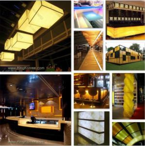 Decoration Artificial Stone Solid Surface Translucent Resin Panels pictures & photos