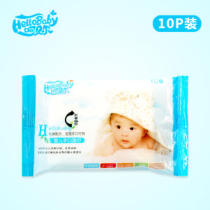 Baby Wet Wipes Manufactures in USA Facial for Cleaning, Moisturizing and Skin Care 10PCS pictures & photos