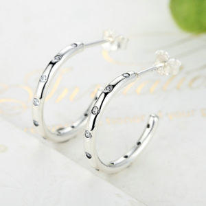 Genuine 100% 925 Sterling Silver Stackable Droplets Stud Earrings pictures & photos