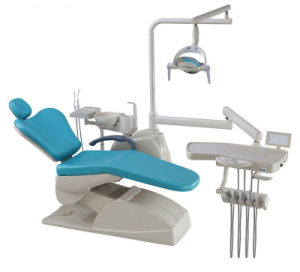 High Quality Ce Approved Real Leather Dental Chair with LED Sensor Light pictures & photos