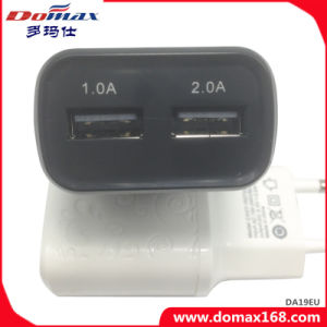 Mobile Phone EU Plug 2 USB Adapter Travel Wall Charger pictures & photos