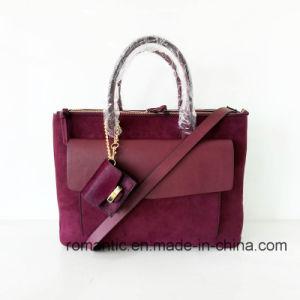 Fashion Designer Lady Suede PU Leather Briefcase (NMDK-051603)