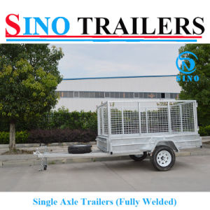 Family Use Best Price Single Axle Caged Box Trailer