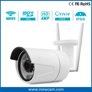 Waterproof 4MP Wireless IP Camera with Built-in 16g SD Card pictures & photos