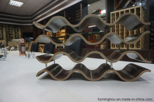 12 Bottles Unique Wooden Wave Shape Wine Rack for Display pictures & photos