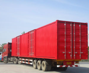40 Feet Platebed Container Semitrailer pictures & photos