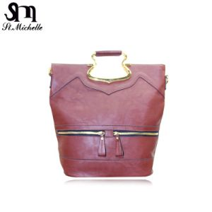 Red Classic Style PU Women Handbags pictures & photos
