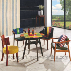 fashion Wooden Restaurant Furniture Set with Different Style Chair and Round Table (SP-CT705) pictures & photos