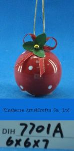 Hand-Painted Ceramic Round Bauble for Christmas Tree Decoration pictures & photos