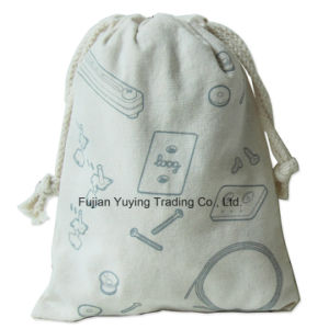 Promotional Reusable 100% Organic Drawstring Cotton Bag pictures & photos