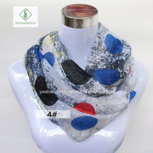 2017 Newest Europe Colourful DOT Printed Fashion Lady Infinity Scarf pictures & photos