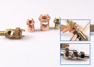 Brass Line Tap Split for Earthing System pictures & photos