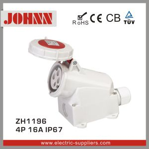 IP67 4p 16A High-End Wall Mounted Industrial Socket pictures & photos