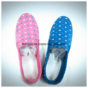 Pink Color Flat Shoes with Fabric Upper and PVC Outsole pictures & photos
