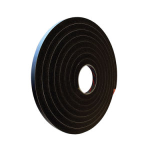 PVC Double Sided Sticky Black Foam Tape for Curtain Wall pictures & photos