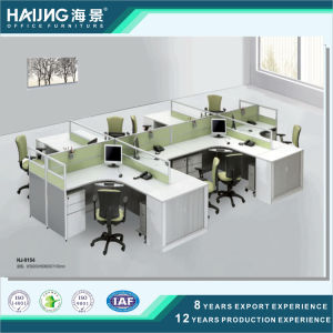 Six Seaters Green Color Modern Office Furniture Wooden Computer Table Workstation pictures & photos