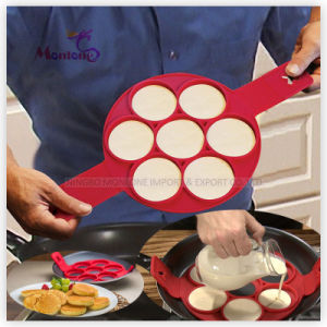 Perfect Pancakes Maker 7 Cavity Silicone Pancake Molds Egg Cooker pictures & photos