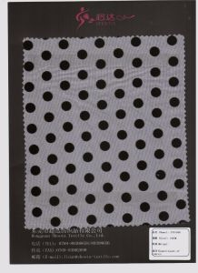 Flocked DOT Mesh Fabric for Lingerie Wedding Dress at Low Cost Small MOQ pictures & photos
