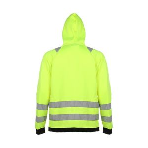 Custom Zip up Reflective Hooded Sweatshirt pictures & photos
