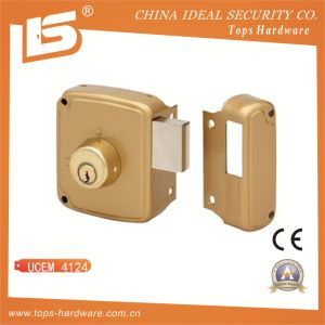 Round Cylinder Rim Lock, Horizontal with Deadbolt - Ucem 4124 pictures & photos