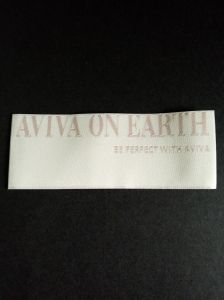 Endfolded Main Damask Clothing Woven Label pictures & photos