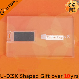Custom Logo Gift Transparent Credit Card USB Stick (YT-3101-02) pictures & photos