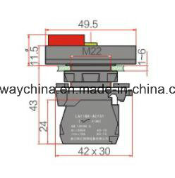 22mm Illuminiated Square Type Push Button Switch with Certification pictures & photos