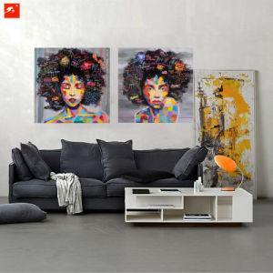 Modern Pop Black Women Portrait Oil Painting on Canvas Print pictures & photos