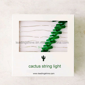 Cactus Copper Wire Battery Operated String Light Copper Fairy Light for Xmas pictures & photos