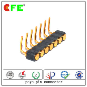 7pin Single Row Right Angle Connector Pogo Pin pictures & photos