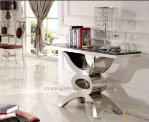 Glass Dining Stainless Steel Table Furniture Set pictures & photos