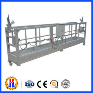 Powered Exterior Wall Construction Suspended Platform