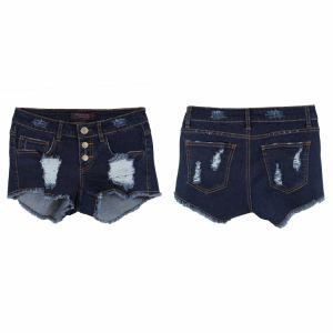 Lady′s Hot Short Denim with Wholesale in China (MYX35) pictures & photos