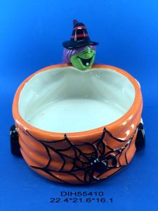 Halloween Decorative Ceramic Skull Candy Bowl pictures & photos
