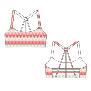 Lycra Sportwear Brazilian Back Criss Cross Sports Bra pictures & photos