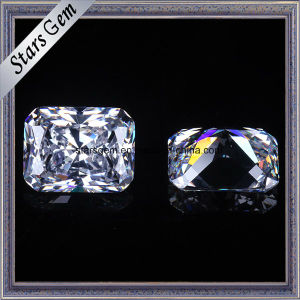 Best-Selling Radiant Cut 8.5X6.5mm White CZ Loose Gemstone pictures & photos