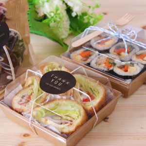 PET disposable clear plastic sushi/bread/cake food container pictures & photos