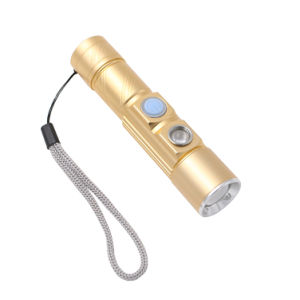 5 Modes 2* CREE Q5 LED Flashlight White/Red Color Built-in Rechargeable 16340 Battery USB Zoomable Signal Torch Light pictures & photos