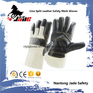 Dark Furniture Leather Work Industrial Safety Work Glove pictures & photos