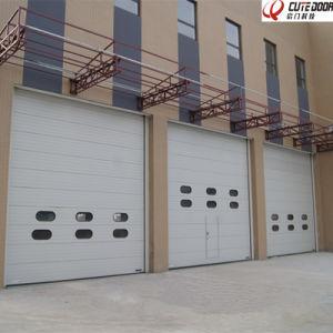 Standard Lift Polyurethane Foam Large Industrial Door for Factory pictures & photos
