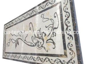 Rectangular Marble Waterjet Floor Tile pictures & photos