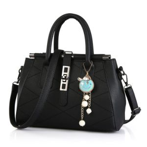 Fashion PU Leather Female Handbag with OEM Service pictures & photos