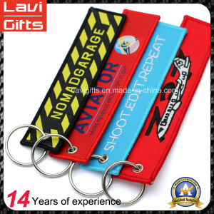 Custom Double Sided Embroidery Patch Key Chain with Keyring pictures & photos