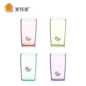 Metka Household Plastic Transparent Square Cup pictures & photos